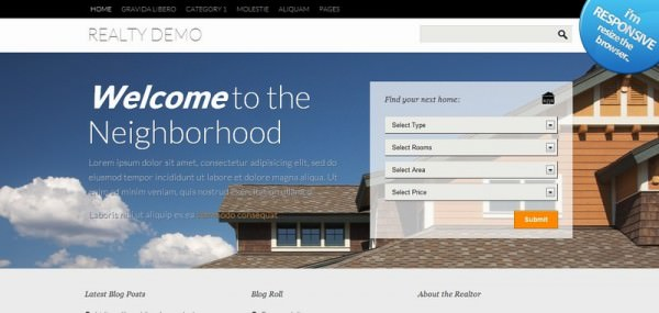 Free Responsive Themes - Realty