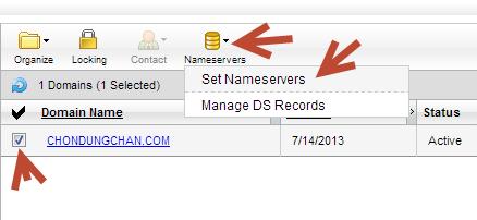 Sửa DNS cho domain
