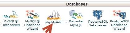 Truy cập công cụ PhpMyAdmin
