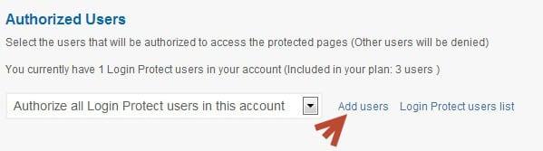 Thêm user vào Login Protected