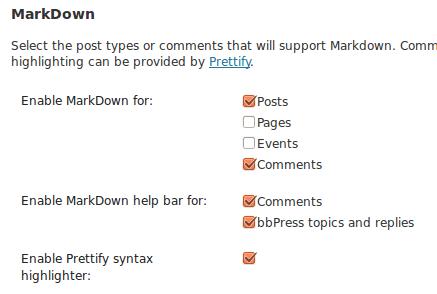 Tùy chỉnh WP Markdown