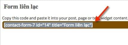 Chèn form liên hệ vào post/page