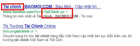Đường dẫn cũng được highlight trên Bing.com