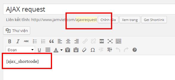 Tạo một trang cho Ajax request tới lấy nội dung