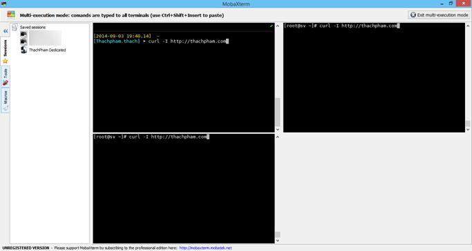 Chế độ Multi Excution để làm việc trên nhiều server cùng lúc.