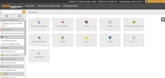 WHM - Khu vực quản trị cho Admin và Reseller của phần mềm cPanel