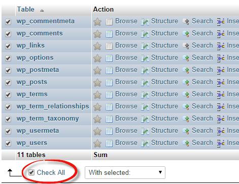 wp-database-checkall