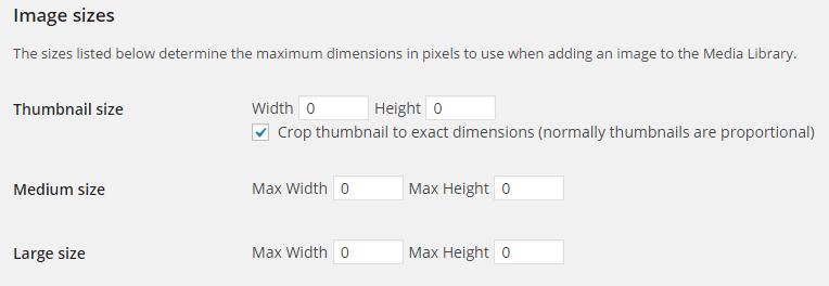 Đưa các tham số về 0 để tắt tự động sinh ra ảnh.