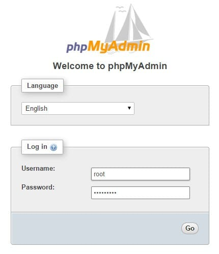 login-phpmyadmin