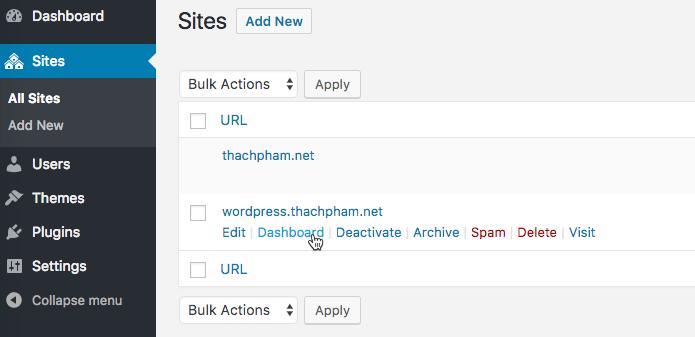 [Multisite] Tạo website con và cài plugin/theme 199