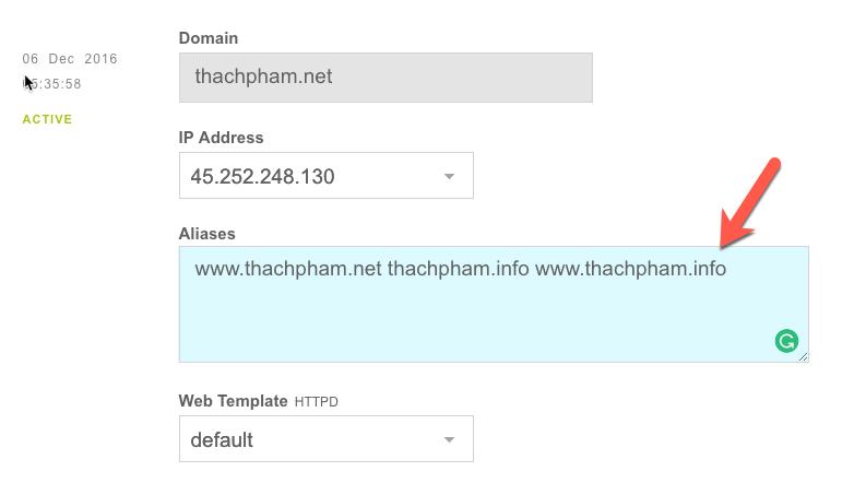 [Multisite] Sử dụng domain riêng cho website con 203