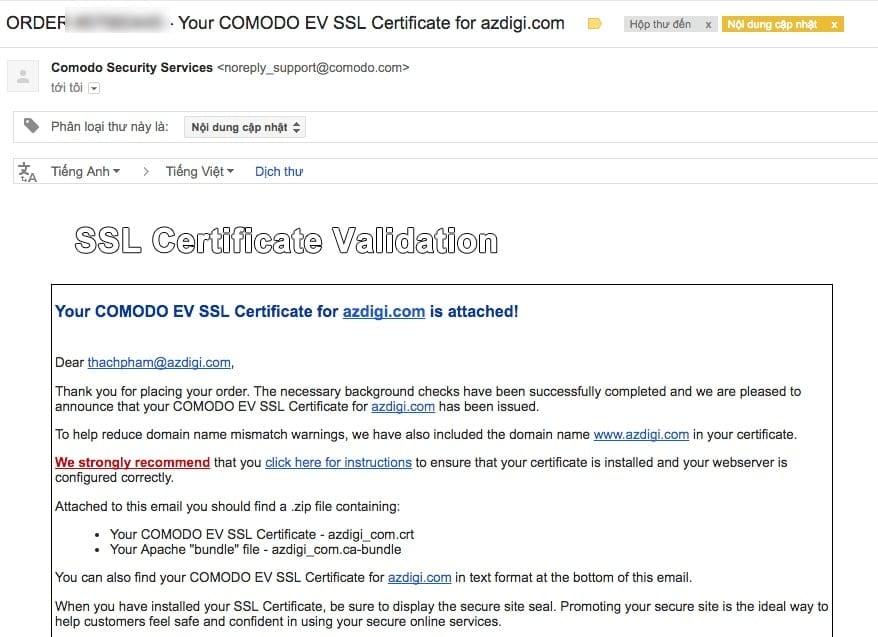 Làm thế nào để xin cấp EV SSL (chứng chỉ số mở rộng) cho Doanh nghiệp? 200